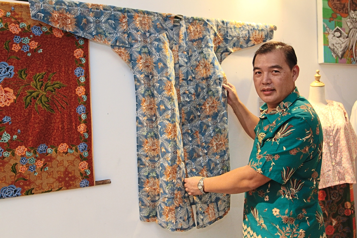 Tan's creations exhibit the evolution of the sarong in the Peranakan community. — Photos: LOW BOON TAT/The Star