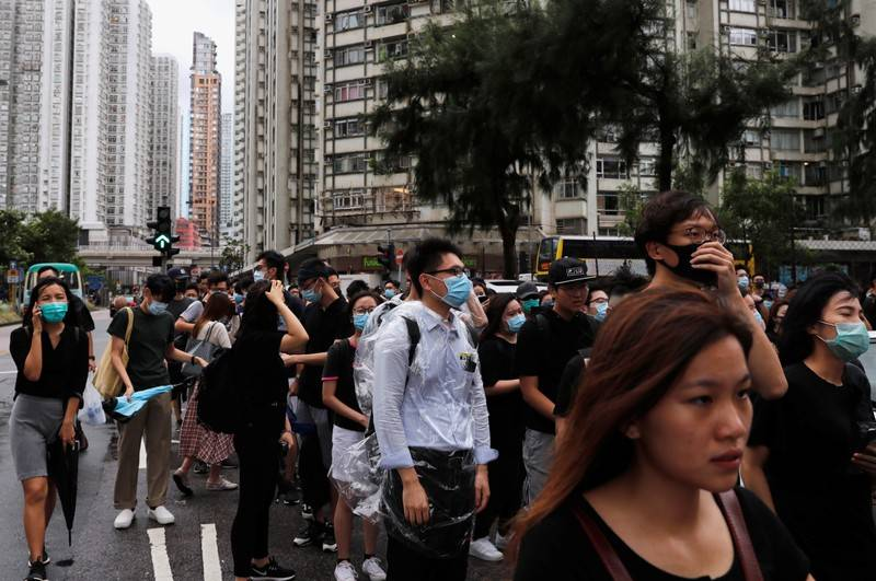 Hong Kong protesters appear in court to face riot charges