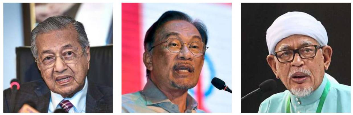 To stay or go: Dr Mahathir stresses that he will pass the baton to Anwar while Hadi Awang warns that changing a prime minister is not like changing shoes.