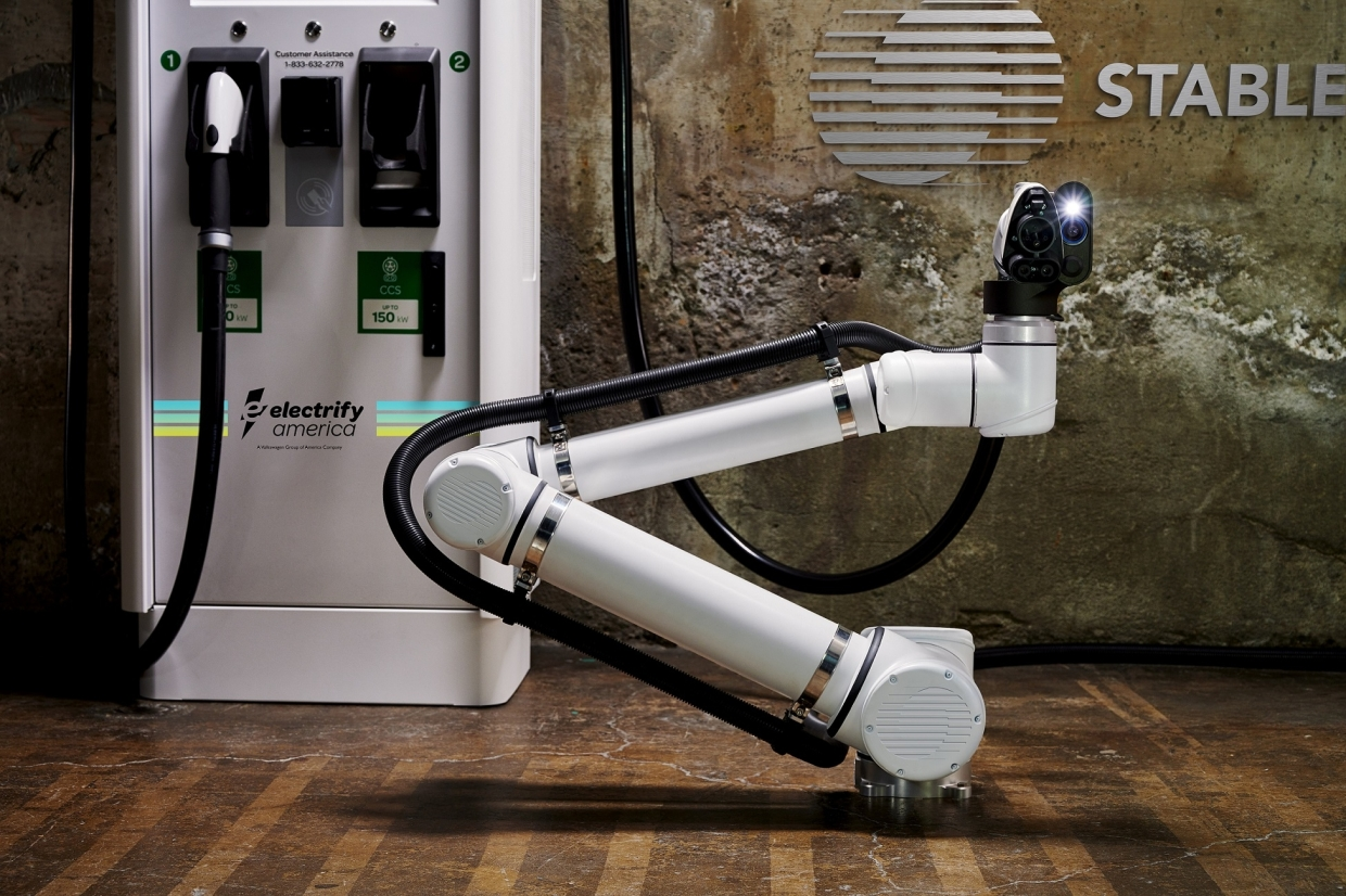 Electrify America and Stable Auto to develop robotic arms that help