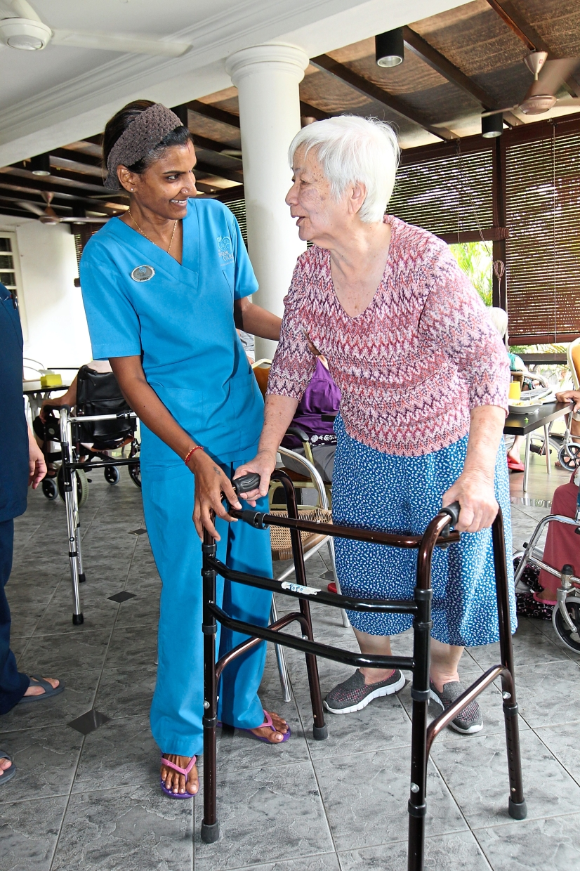 Providing quality: SCM engages retired nurses and matrons to ensure that it has experienced staff to handle its occupants.