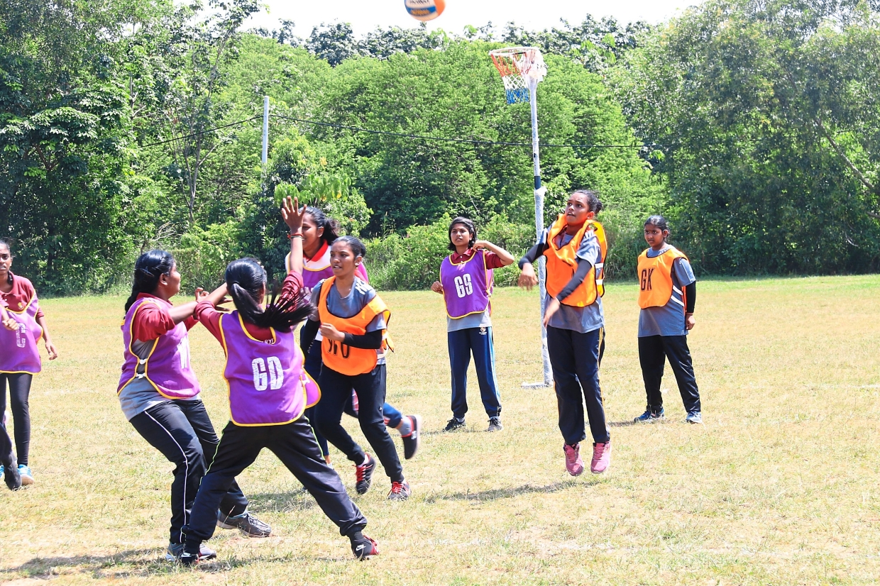 The Under-16 netball competition saw keen competition among the girls.