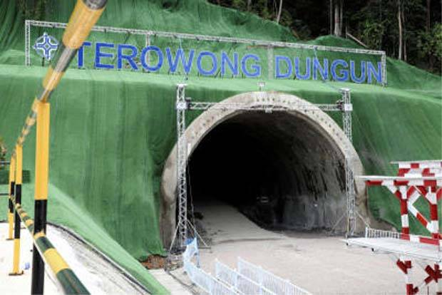 Tunneling works on the ECRL route near Dungun. - Filepic