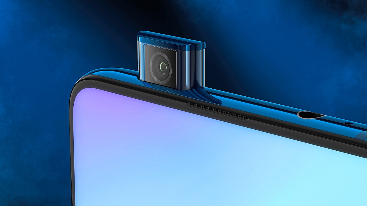 Xiaomi Mi 9T is equipped with a front pop-up camera.