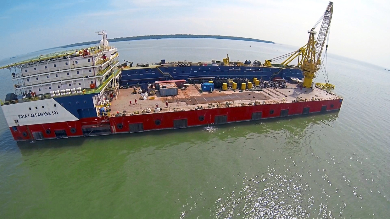 Notice of demand: Barakah's pipelay barge Kota Laksamana 101. Barakah's subsidiary PBJV Group has issued a notice of demand for RM1.02bil to both Petronas and Petronas Carigali Sdn Bhd.