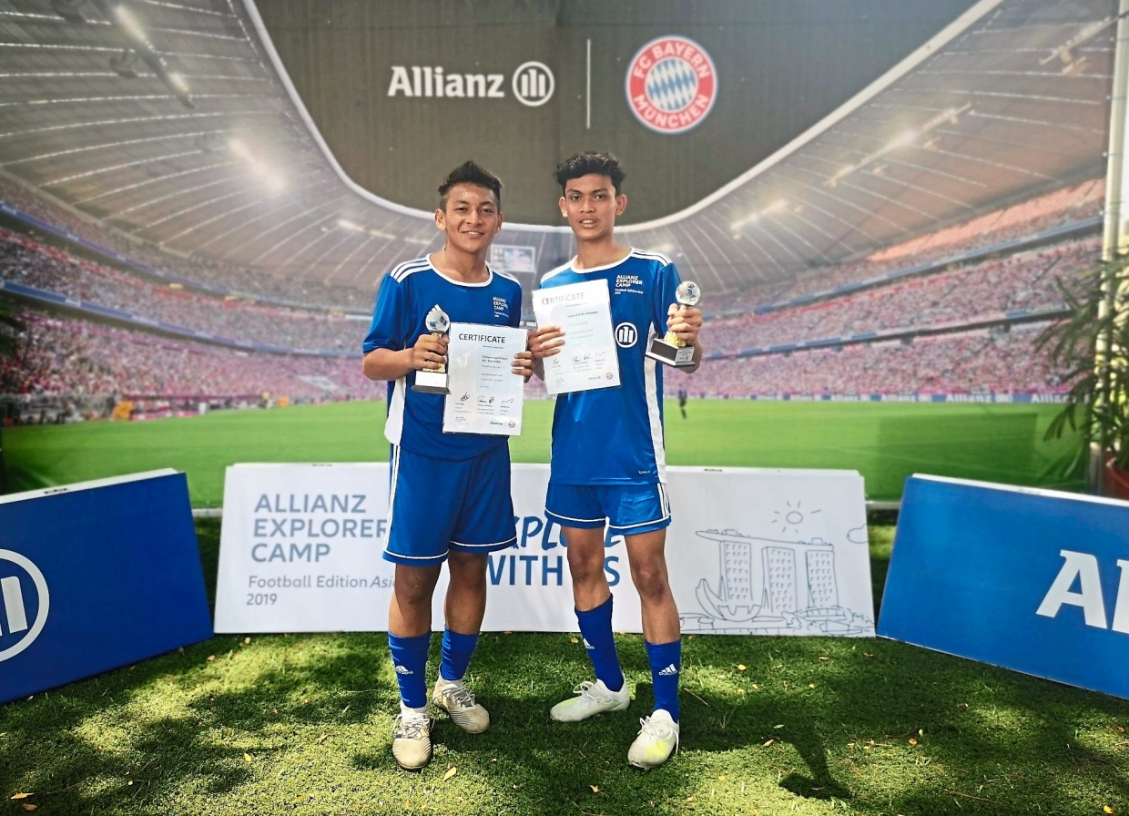 Firdaus (left) and Adam have been picked to represent Malaysia by Bayern Munich selectors.