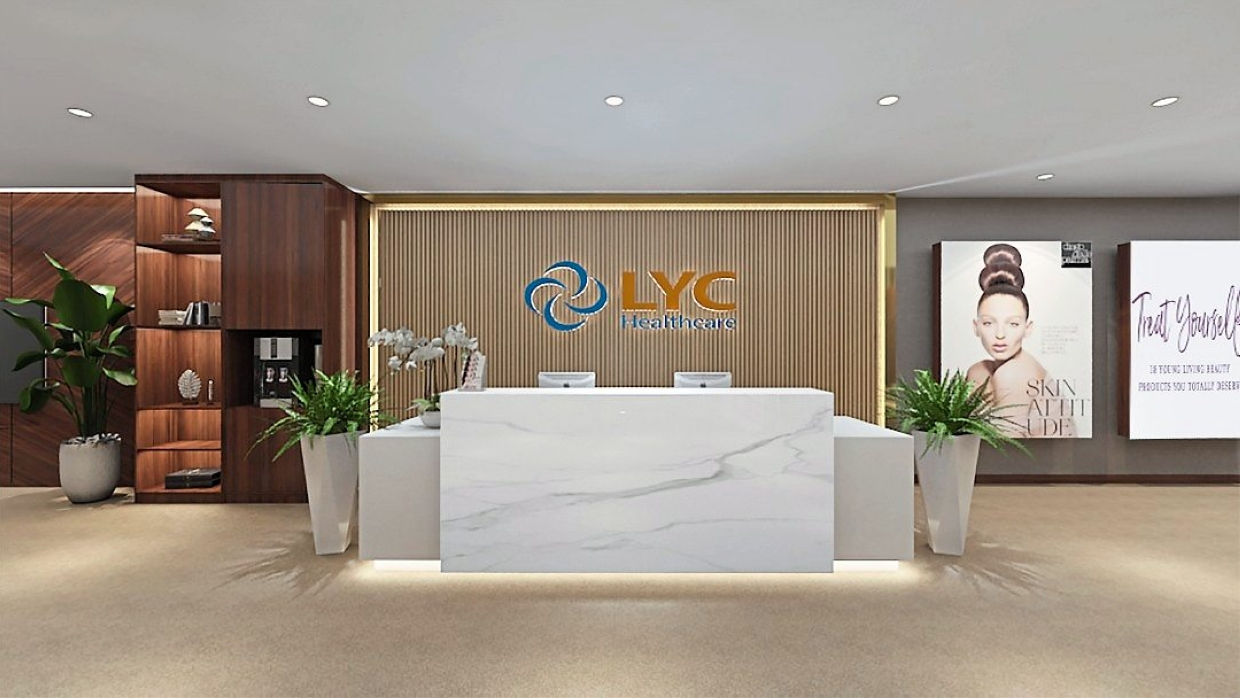 Opening soon: A preview of the soon-to-be-opened LYC Aesthetics and Cosmetics Centre.
