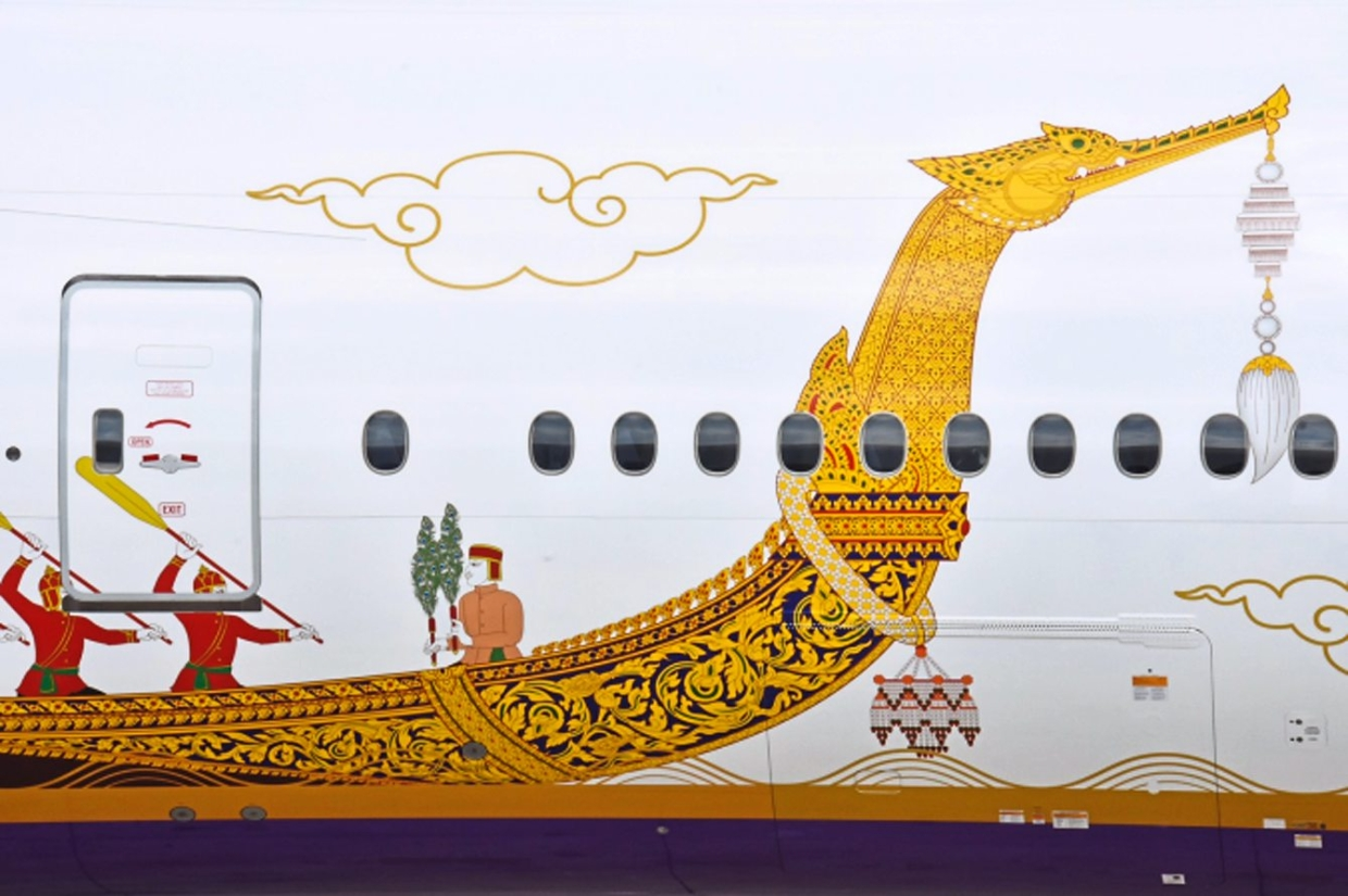 Thai Airways unveils royal barge livery on aircraft | The