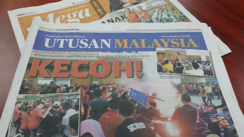 All publications under the Utusan Group – Utusan Malaysia, Mingguan Malaysia, Kosmo!, and Kosmo! Ahad – will cease all print and online publications on Wednesday.