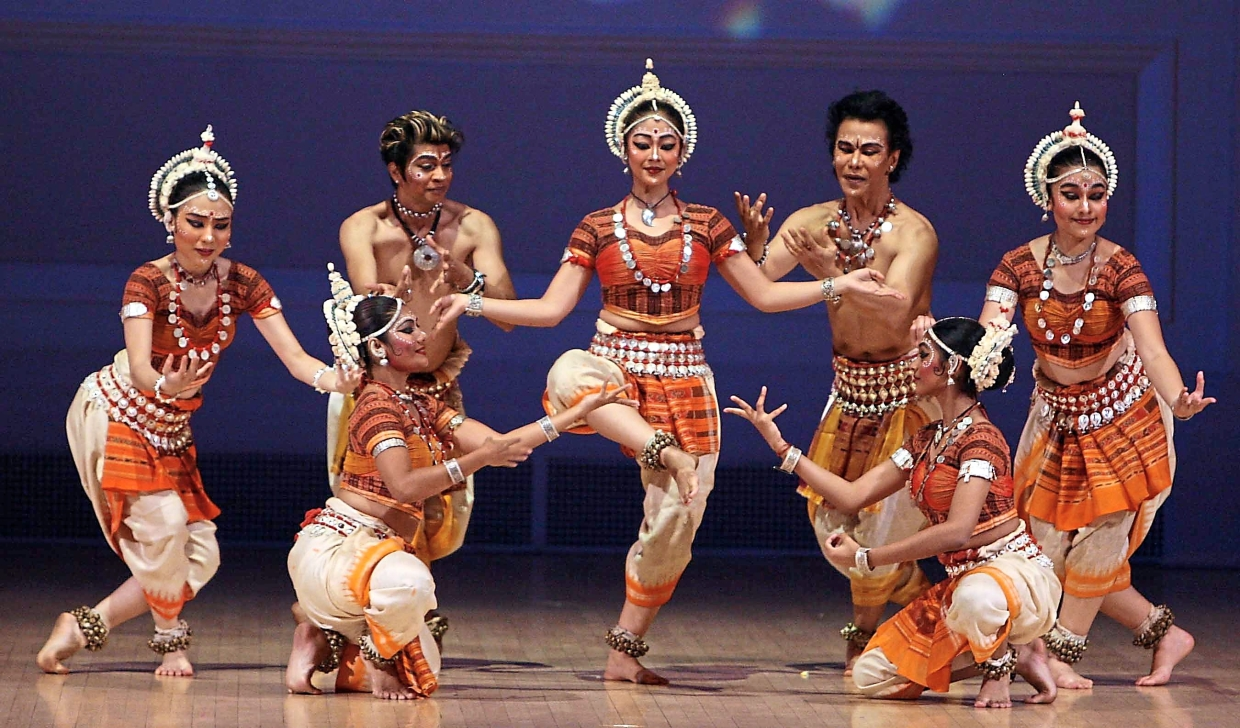 Ramli (standing second from right)  at the presentation of 'Spellbound Odissi' at Carnegie Hall, New York City, in 2006.  —Photo courtesy of Jay Mandal