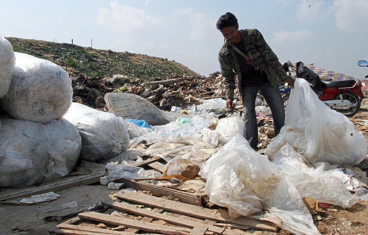 Landfills are filled with plastic materials that cannot be recycled.