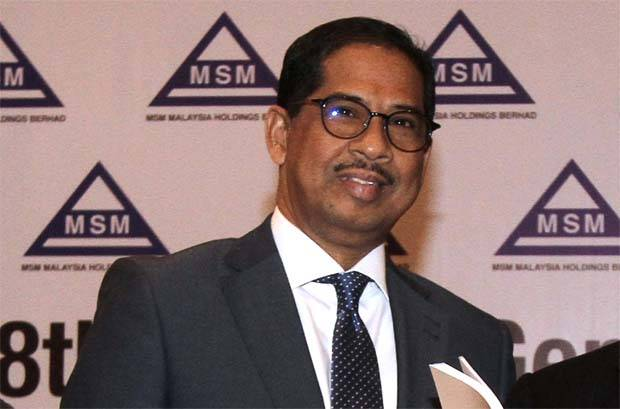 """MSM group chief executive officer Datuk Khairil Anuar Aziz(pic) said: """"We expected 2019 to be challenging for the group, due to the glut of refined sugar in the domestic market, and the weakening ringgit."""""""
