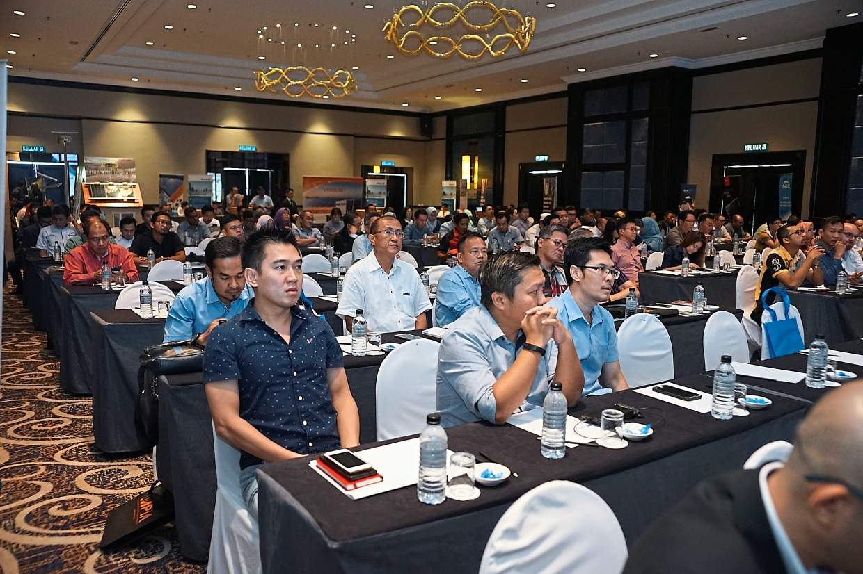 Some of the participants at the MPIA solar roadshow held at a hotel in Kuantan.