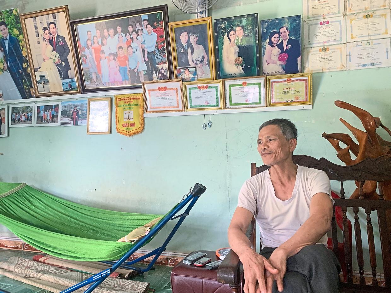 Family album: Nguyen is proud of the achievements of his children.