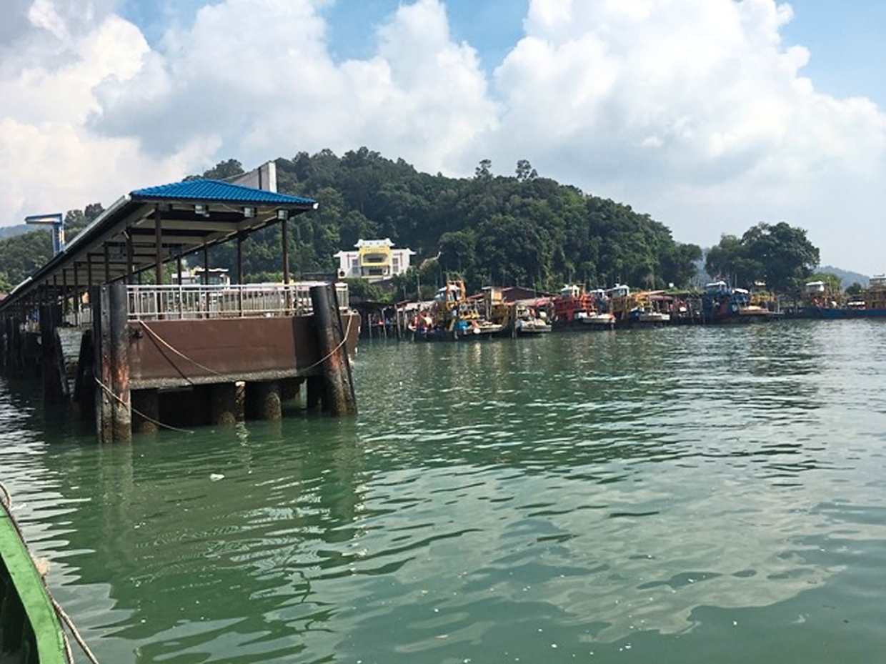 View of Pangkor Island Jetty, as seen from an approaching ferry.