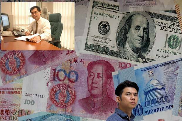 """""""It's a natural thing for a currency to weaken in the face of weaker exports. The International Monetary Fund says the yuan is fairly valued; it is the dollar that is overvalued, '' said Inter-Pacific Securities head of research Pong Teng Siew (inset pic)."""