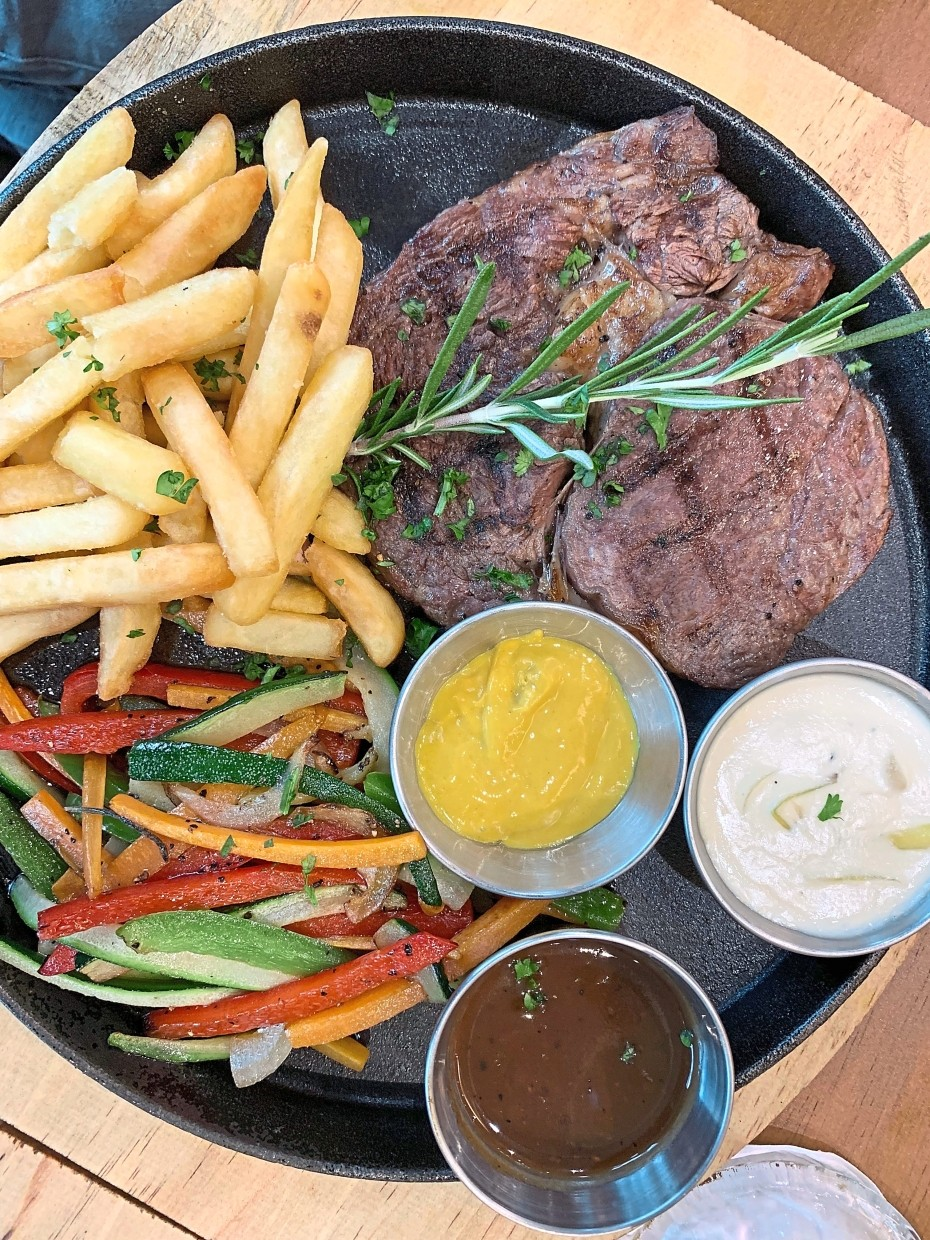 A classic grill experience with rib-eye steak. — Photos: S.S. KANESAN/The Star