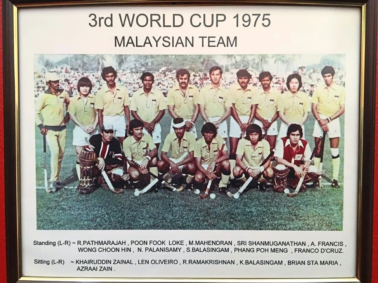 One for the album: Picture of the Malaysian hockey team who finished fourth, the best ever result, in the 1975 World Cup in Kuala Lumpur.