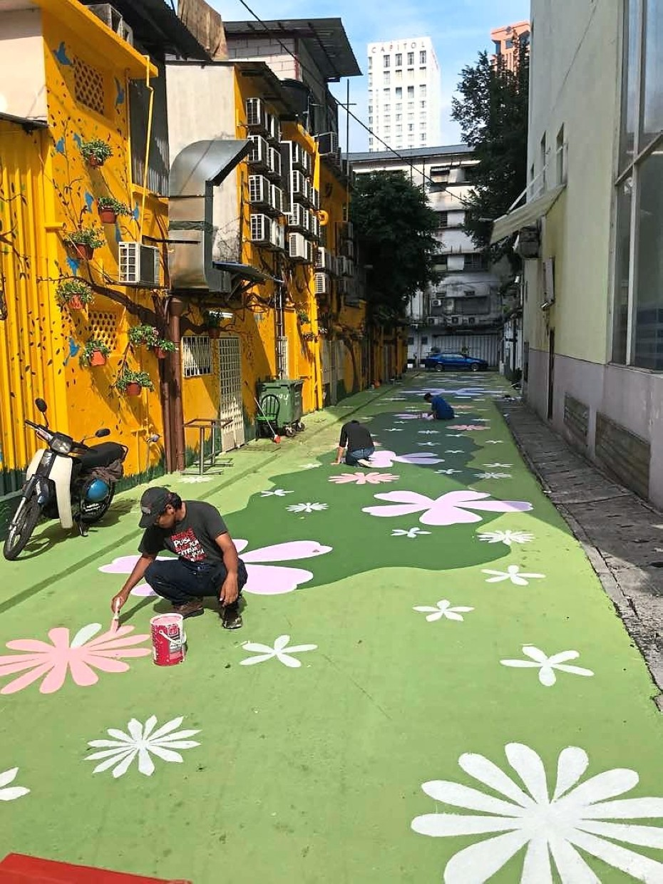 Back alleys and side lanes in Bukit Bintang have been rejuvenated by street art.