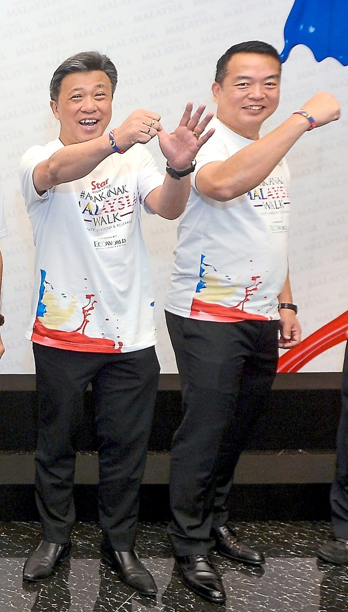 For a good cause: The #AnakAnakMalaysia Walk is the brainchild of Wong (left) and Chang.