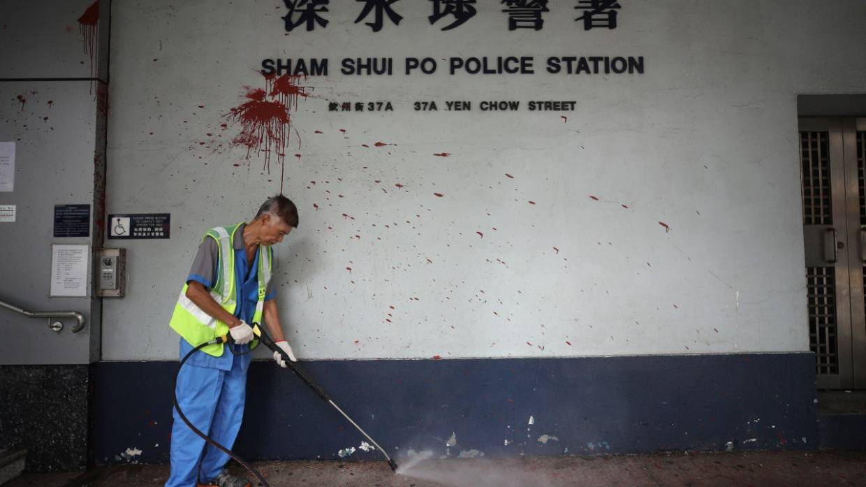 Hong Kong's cleaners left to pick up pieces after protest violence without proper protection against effects of tear gas