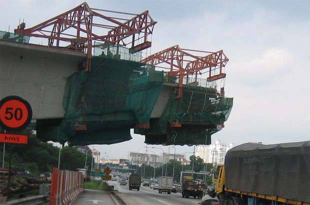 The proceeds raised from the issuance will be advanced to AZRB for the syariah-compliant general working capital requirements and corporate purposes of AZRB. (File pic shows AZRB flyover construction.)