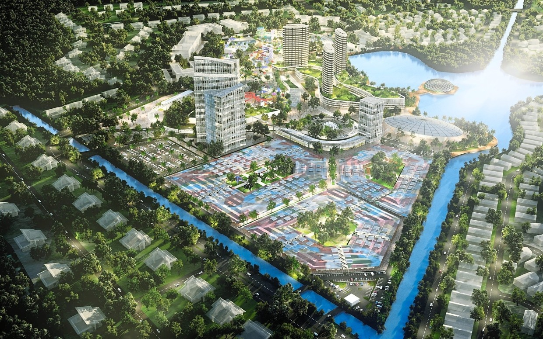 An artist's impression of the Malaysia Tourism City in Kuala Linggi, Melaka.