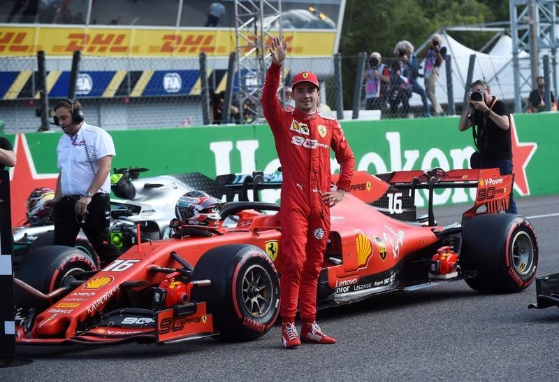 Ferrari's Leclerc takes Monza pole in qualifying farce | The