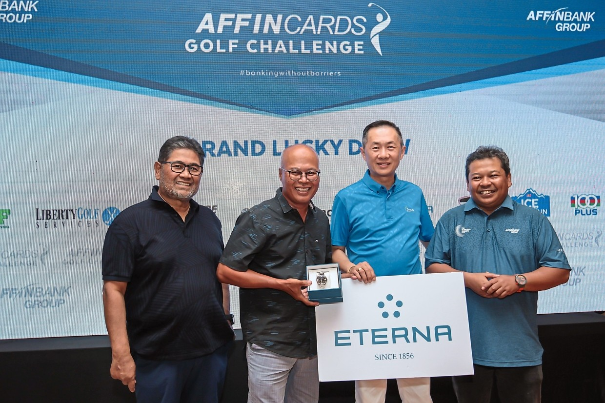 (From left) Affin Banks's Idris, Corum Malaysia general manager Chris Wan and Affin Islamic Bank CEO Nazlee Khalifah.