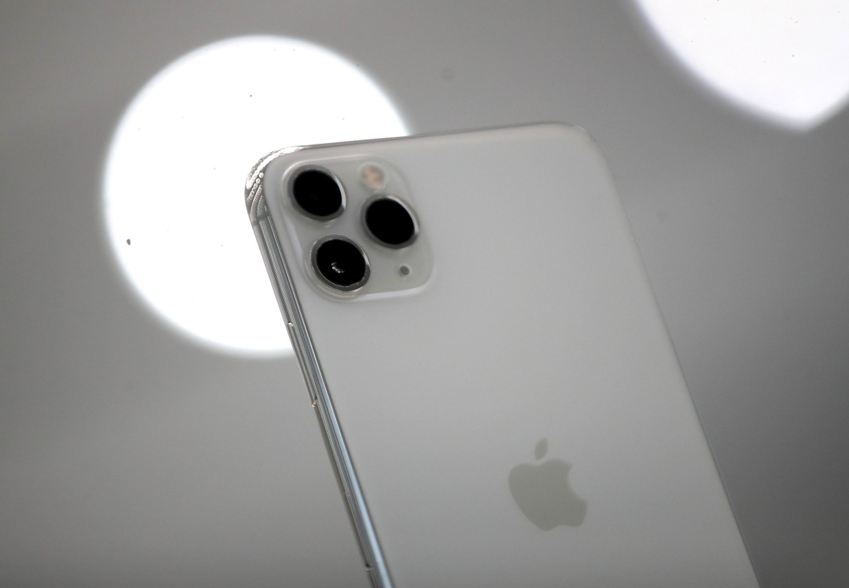 The Pro line of iPhone has a third camera on the back for professional quality photos and video. — AFP