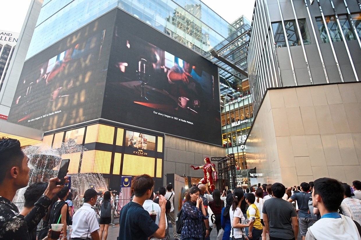 National Anthem Film Grabs Crowds Attention In Kl Shopping