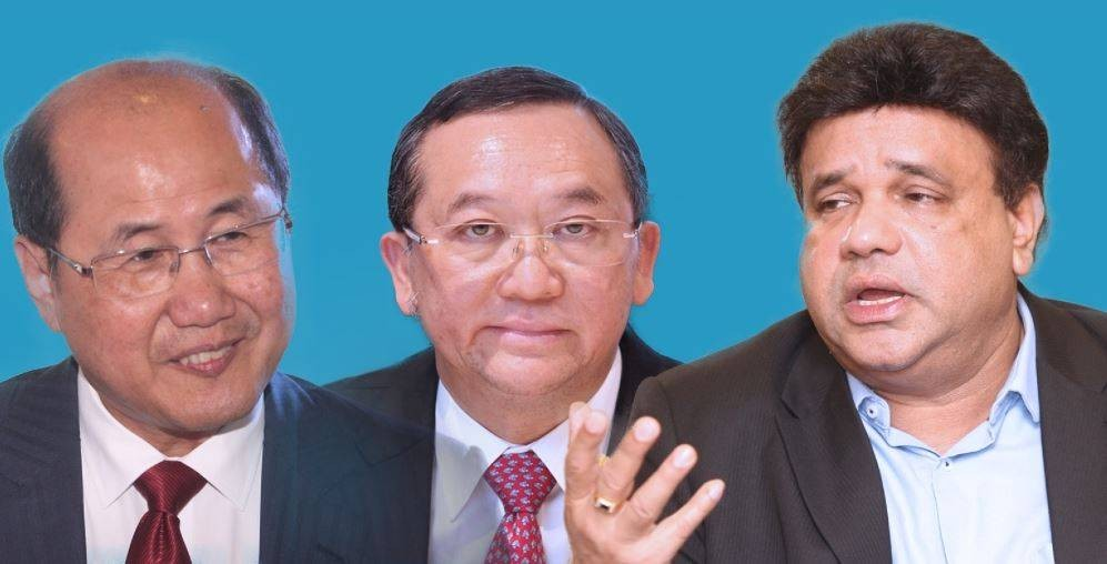 Propping up property: (from left) Khor, Leong and Siders are hopeful that the upcoming budget will contain measures that will help ease the challenges faced by the real estate sector.
