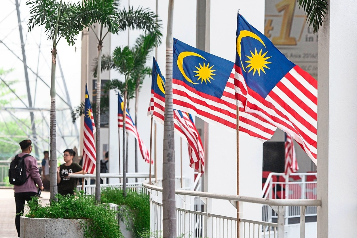 The Jalur Gemilang flies proudly across Taylor's Lakeside Campus in celebration of Merdeka and Malaysia Day.