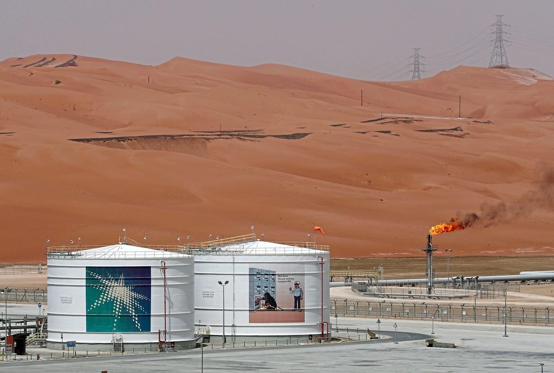 A production facility at Saudi Aramco's Shaybah oilfield in Saudi Arabia.  — Reuters