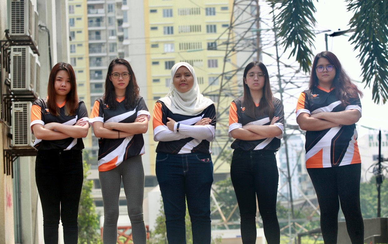 Members of Orange.Sphynx are used to the attention they get as an all-female CS:GO team.