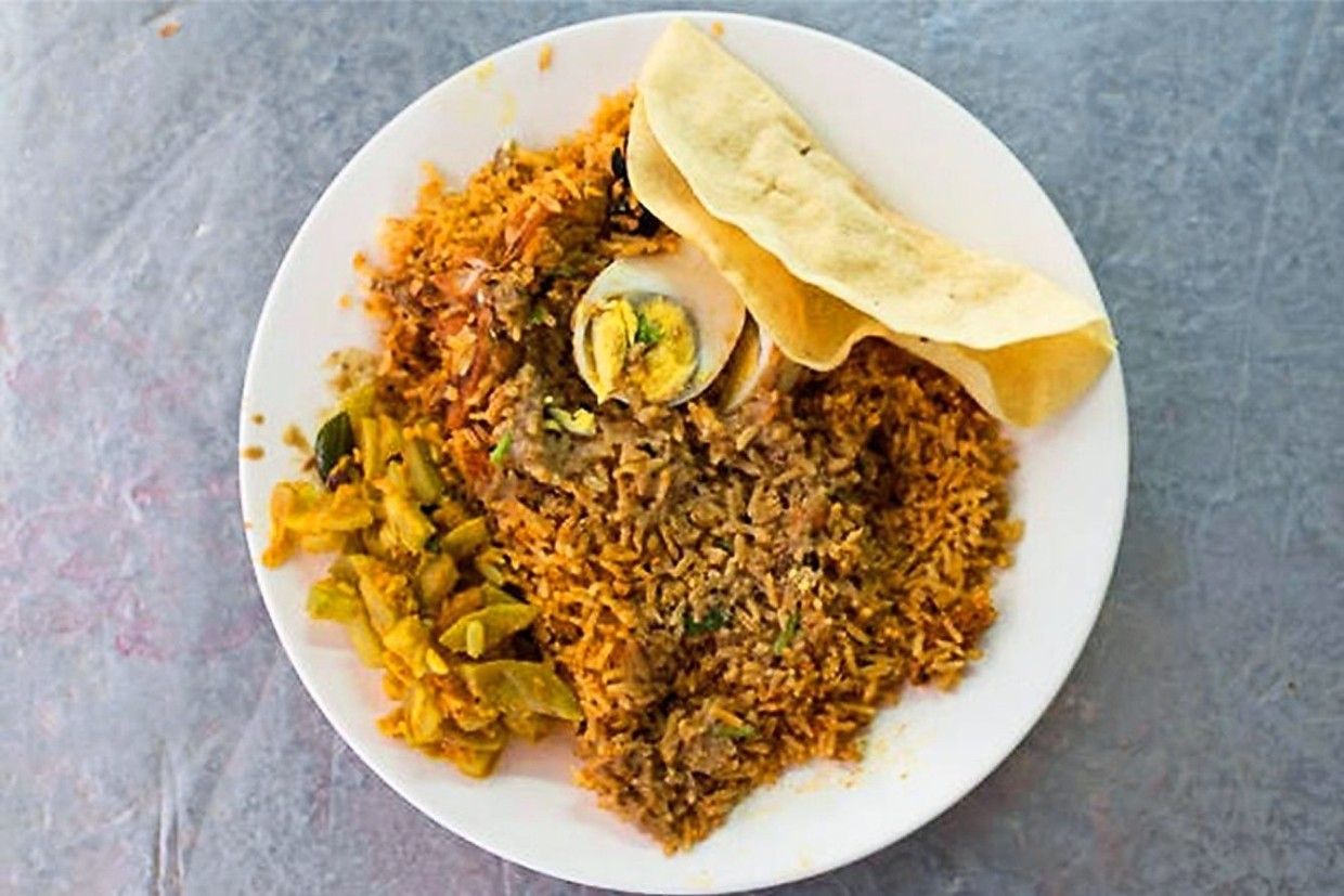 The RM10 briyani set is a satisfying meal at Sami's Corner.