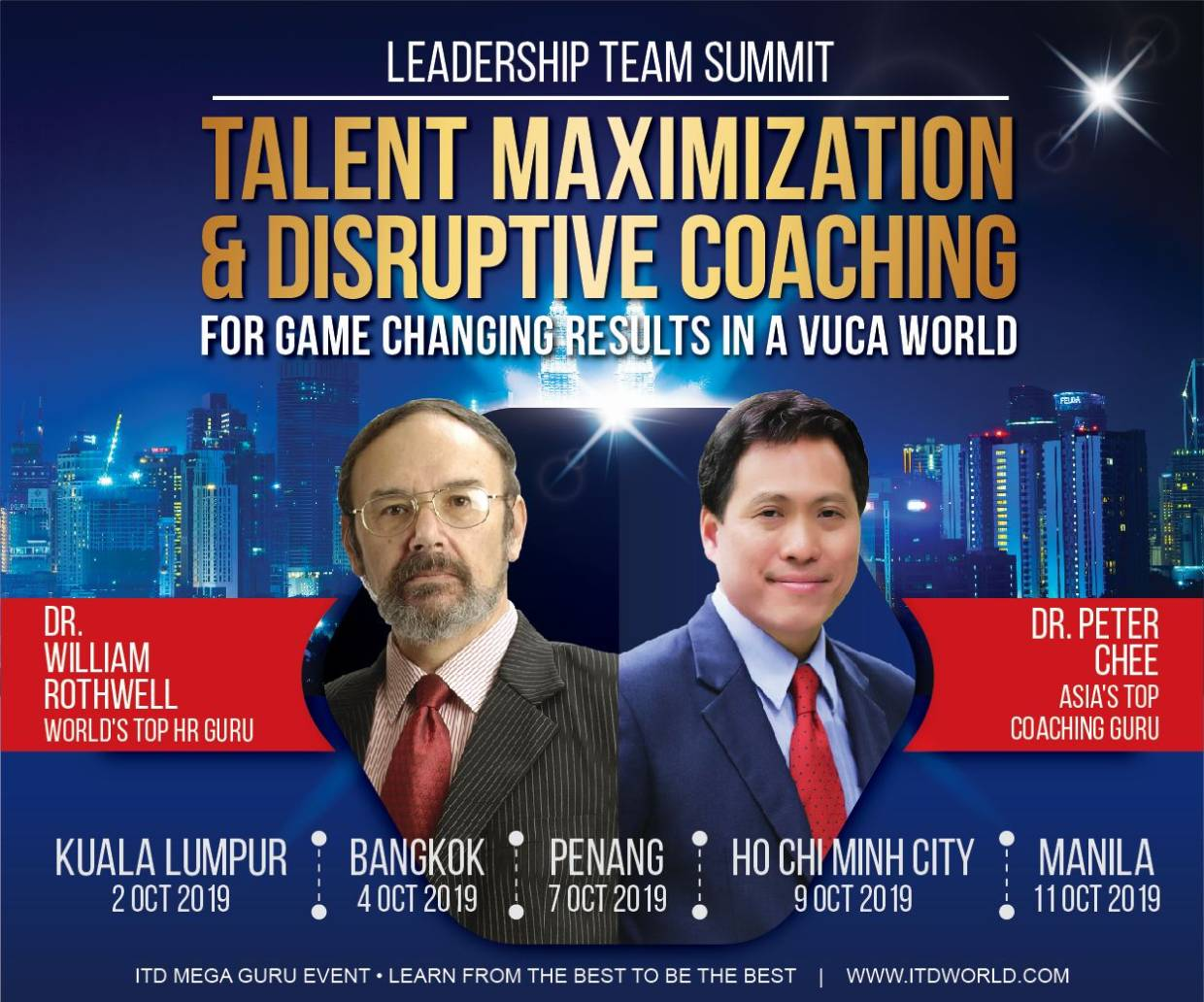 Don't miss out on this Leadership Team Summit happening in Kuala Lumpur on Oct 2 and in Penang on Oct 7.