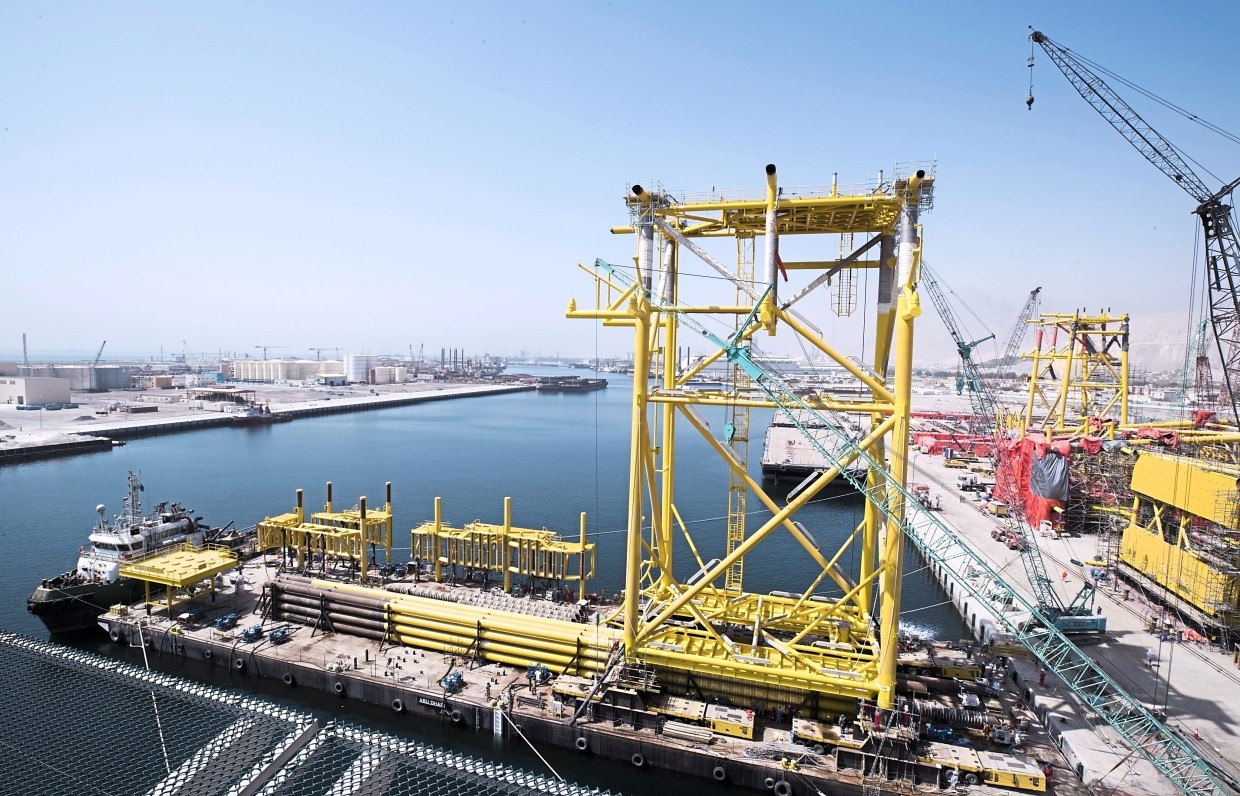 Eversendai's Saudi Aramco Offshore oil and gas project which was completed last year.