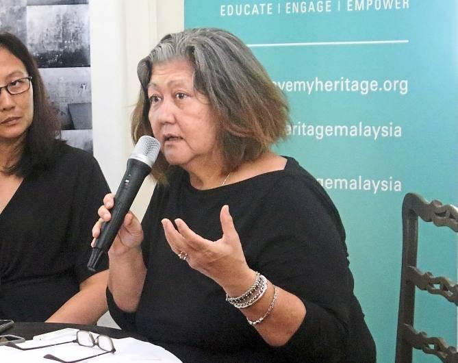 Badan Warisan Malaysia president Elizabeth Cardosa