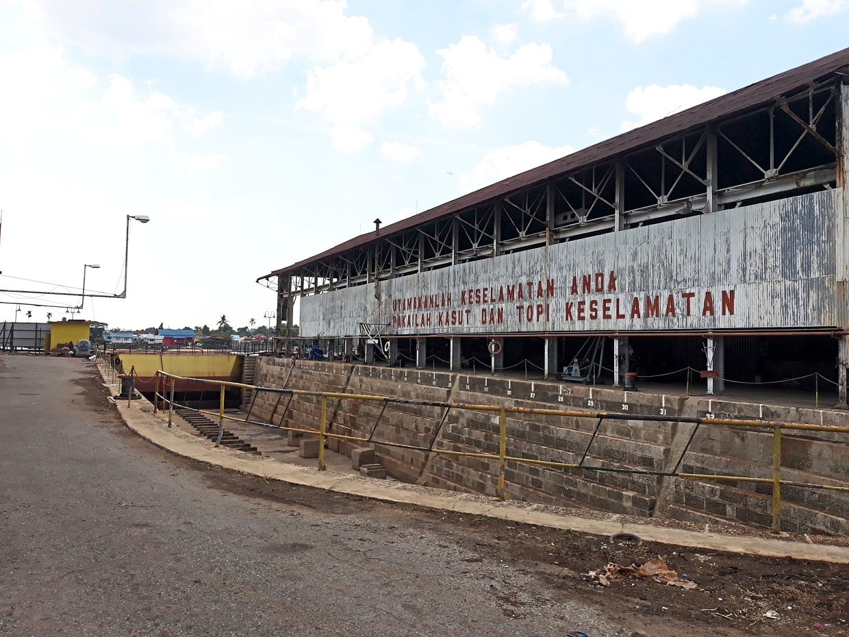 Brooke's Dockyard incepted in 1912 was the first maritime steel structure building in Kuching.
