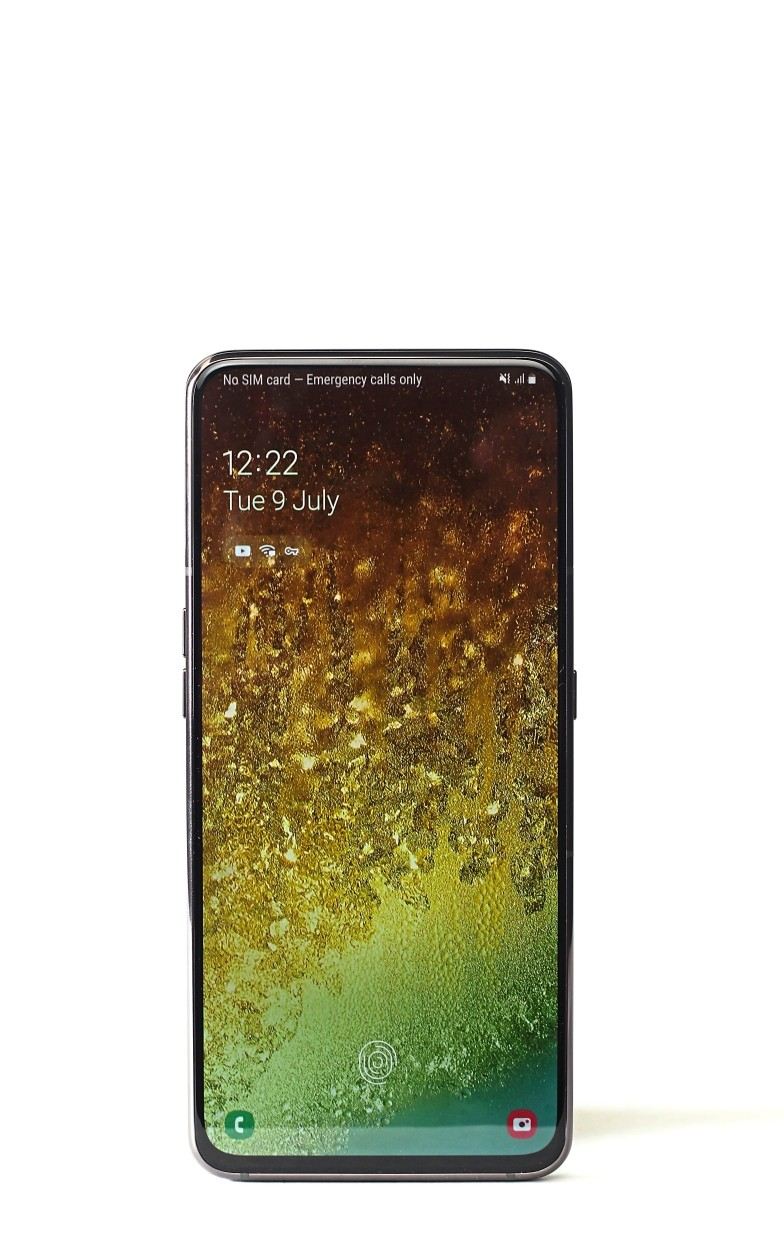 The Samsung Galaxy A80's 20:9 aspect ratio screen make it a very tall phone. — AZMAN GHANI/The Star