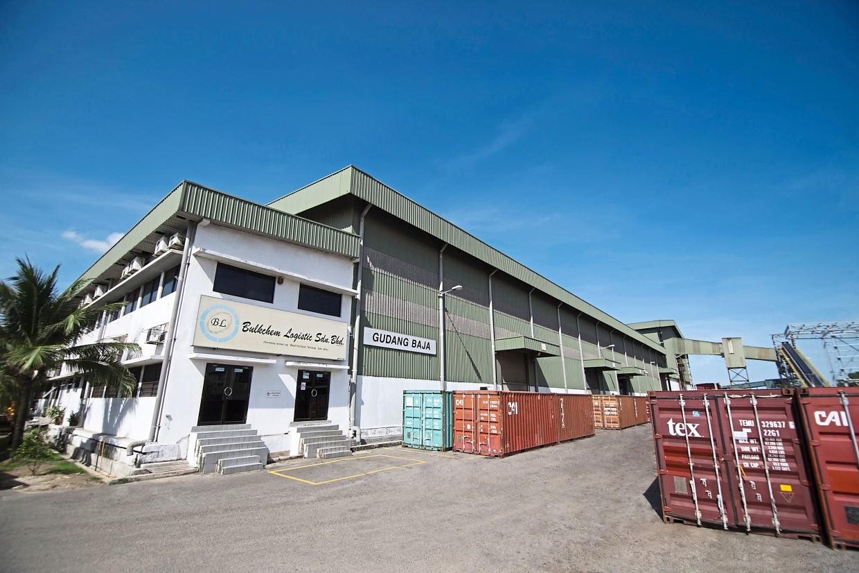 Bulk warehouse: Bulkchem Logistic, a 65,000-metric ton capacity advanced integrated bulk warehouse located at Westport, Port Klang.