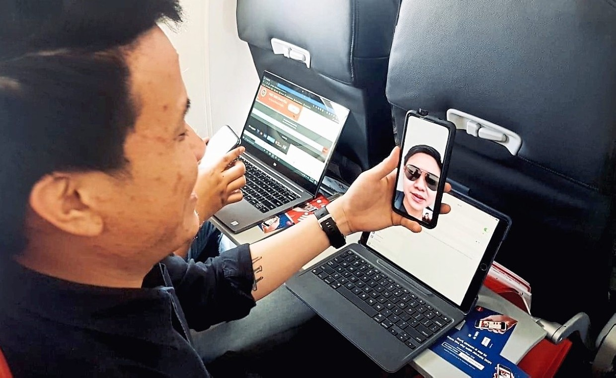 AirAsia now supports high-speed inflight WiFi to its customers flying on six of its aircraft. — AirAsia