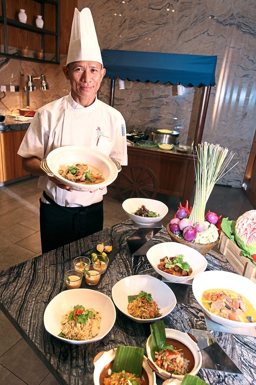 Somkid is in town for the Thai food promotion at Sheraton Petaling Jaya's Feast restaurant.