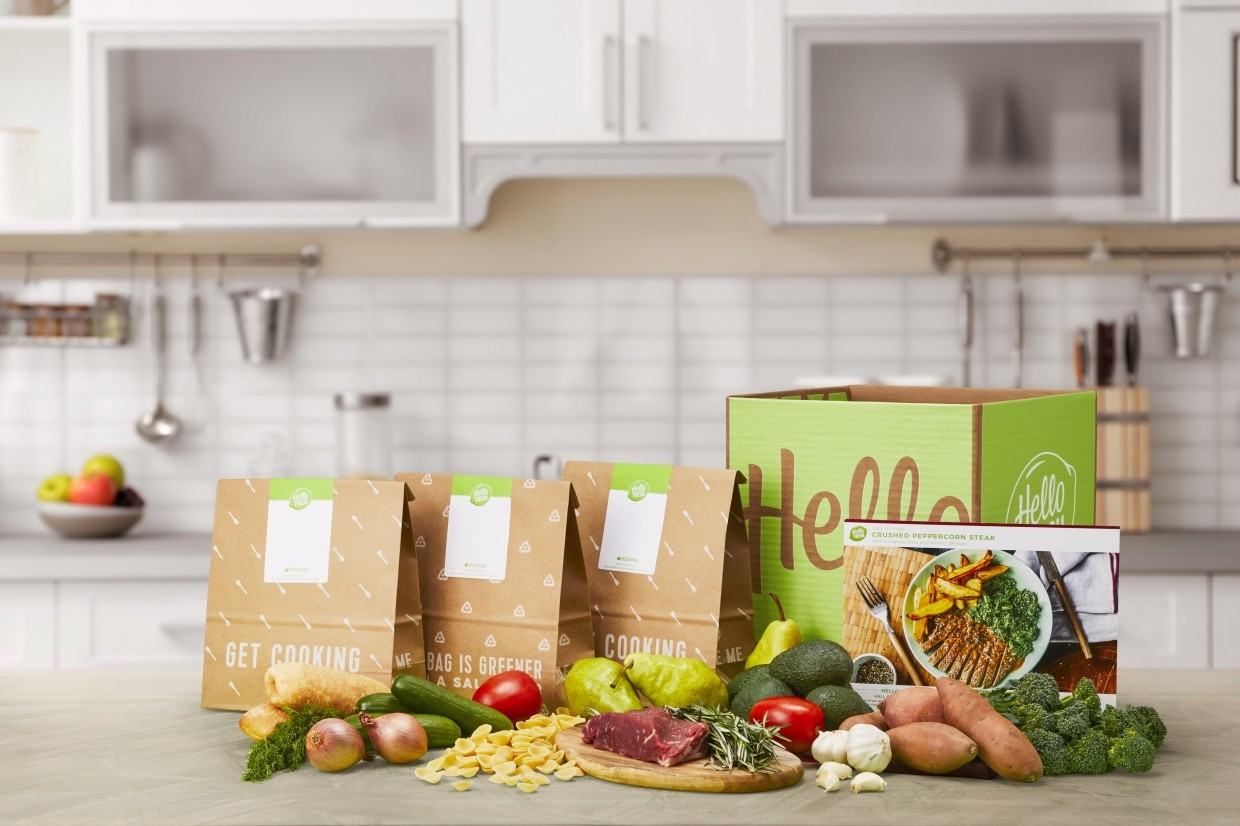 This product display image released by HelloFresh shows ingredients offered from their home delivery meal kits.
