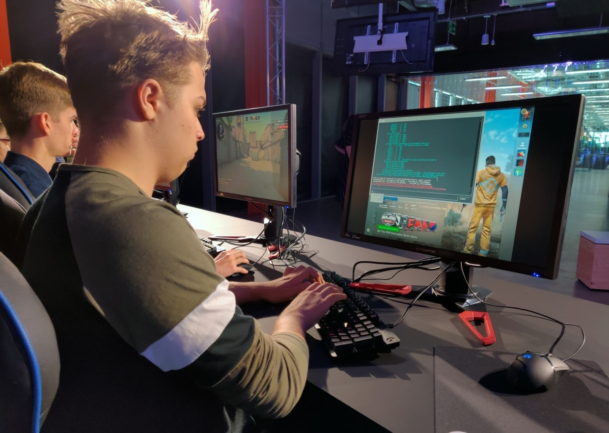 Chapman, 18, said his parents were 'sceptical at first' about studying esports, or competitive multiplayer videogaming, but had since come around.