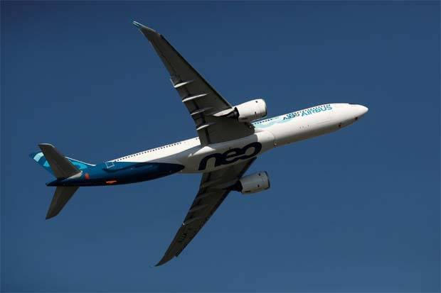 New business included confirmation of 12 more orders for the A330neo - an upgraded version of the A330 wide-body that is in a fierce battle against the Boeing 787 - from Malaysia's AirAsiaX.