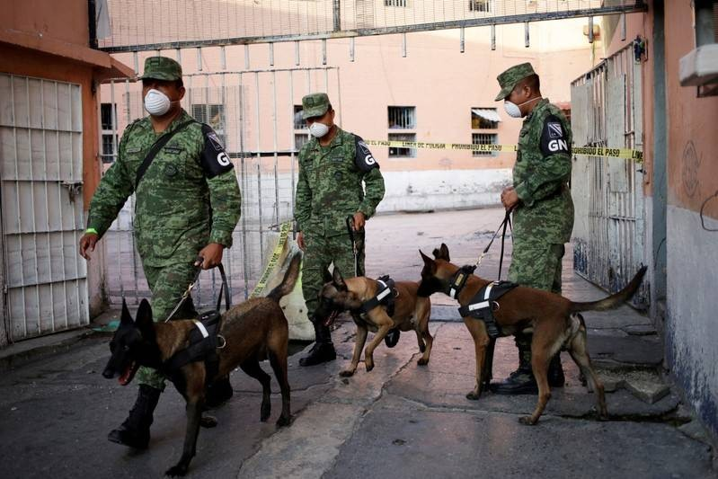 Mexican soldiers take part in a search for mass graves inside the ex-prison of Topo Chico in Monterrey Mexico October 8 2019. REUTERSDaniel Becerril