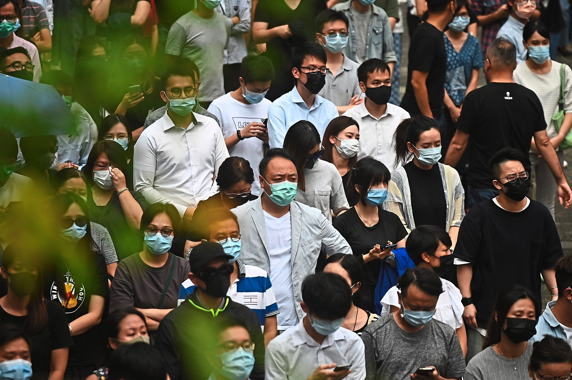 Protest supporters: People attending a flash mob rally to show support for pro-democracy protesters in Hong Kong. Some Hong Kong youths have come out violently for the cause of democracy and freedom. — AFP