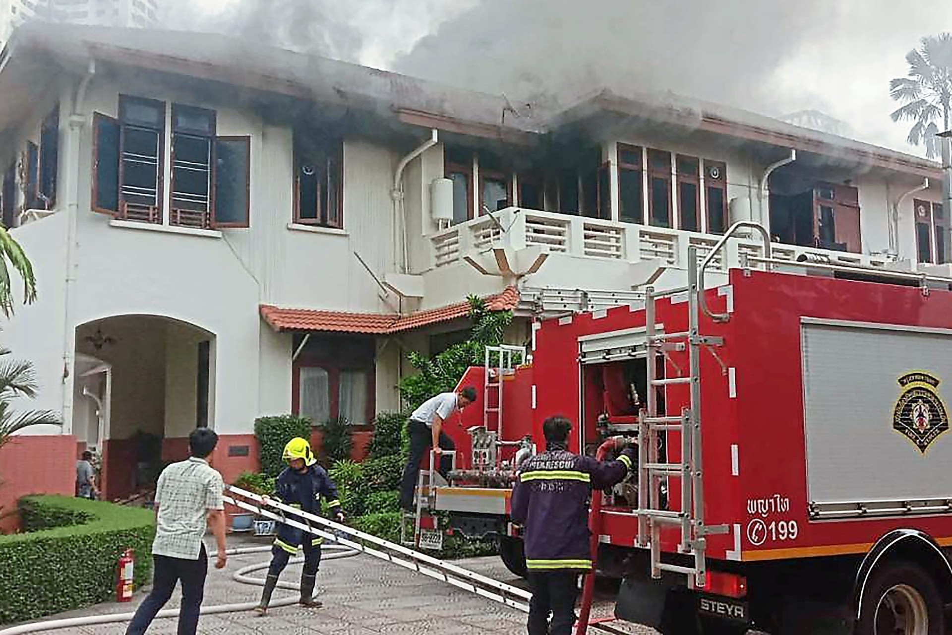 Blaze hits Indonesia embassy in Thailand